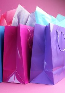 pink and purple gift bag